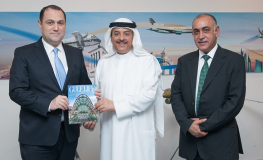 Georgian Ambassador to Saudi Arabia, Bahrain and Oman Visits Gulf Air Headquarters.JPG