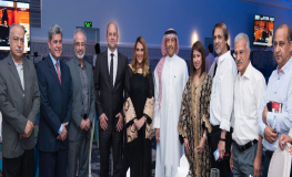 Members of Gulf Air's executive management team and Bahraini media members at Gulf Air's annual Ramadan media ghabgha